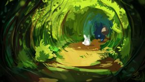 Tree Tunnel! by StarSoulArt