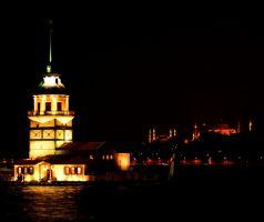 Maiden's Tower  Hagia Sophia by yasarsam