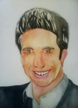 Ross Geller Watercolour by Lets-Do-This