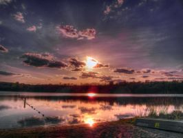 Snelling Lake Sunset by Austron