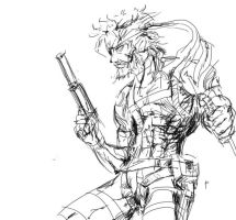 Big Boss/Naked Snake from MGS quick draft sketch by visualinfinity