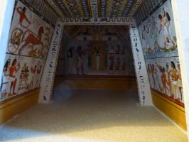 Egyptian Tomb model interior by dashinvaine