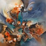 cuiracao abstract painting by Amytea