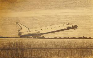Shuttle Discovery by Javoid