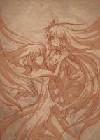 Chobits: Chii and Freya by NekoponLove