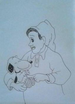 Steven and Snoopy by artaddictive