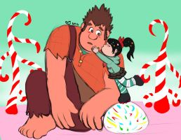 Wreck-It Ralph: Sweet Kiss by CaseyLJones