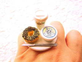 Coffee Bagel Cream Cheese Ring by souzoucreations