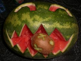 Evil Melon With Kiwi by SN2