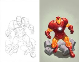 Invincible Iron Man by DustinYee