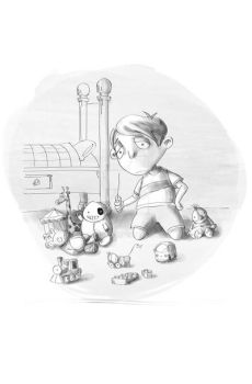 sad kid's room and his toys by tanzoo