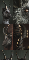 Black Phillip inspired goat mask [sold] by Nymla