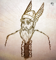 Odin - The Allfather by TheBluekulele