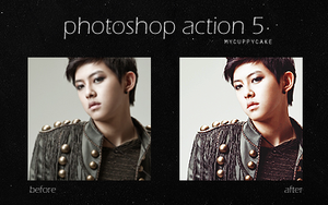 Photoshop Action 5 by MyCuppyCake