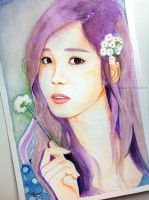 Seohyun -- SNSD fan art painting by antuyetlai