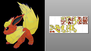 Flareon Papercraft + Unfold Info by Sabi996