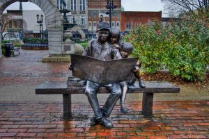 Reading on the Square by Chris-Conway