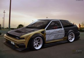 Toyota AE86 by edcgraphic