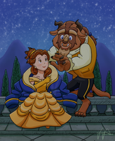 Beauty and the Beast by pikaplusmin