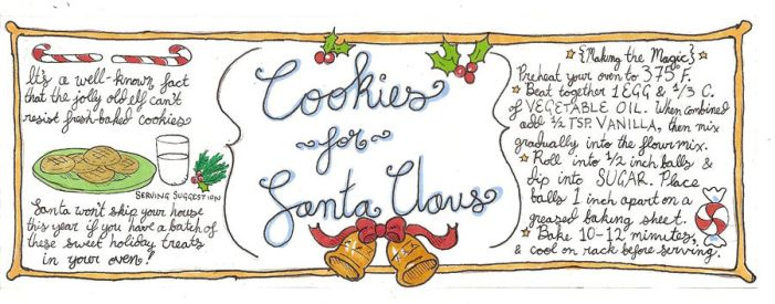 Cookies for Santa jar label by PanPanMomo