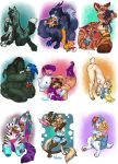 Favorite Plushie Commissions Set 2 by v-e-r-a