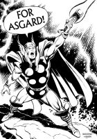 Thor by John Buscema - Inks by adr-ben