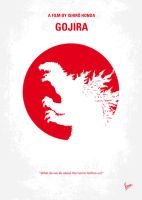 No029-2 My Godzilla 1954 minimal movie poster by Chungkong