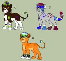 Colorful Cub Adopts -TWO LEFT by Squiggy13