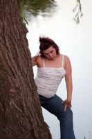 Becky by the Tree by jrbamberg