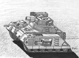 Ubico Assault Tank Trundles Along by TheCentipede