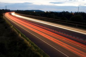 Motorway at Night - 3 by fruitycube