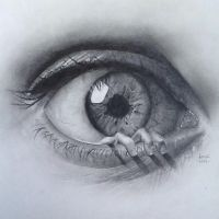 The Eye Drawing by LucyCrt