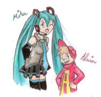 Alvin and Miku Sketch by Clara-Letritsze