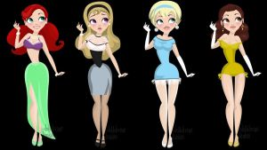 Retro Disney Princesses 1 by abi-adores-art