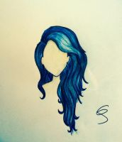 Blue Wavy Hair by Summerreds