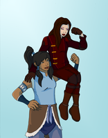 LoK: Girls and their Guns by innocent-rebel