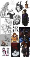 Sketchdump 2014 by DalekMercy