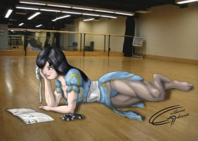 Chun Li - Relaxing by Danaki