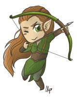 Tauriel the archer by AlyTheKitten