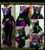 Gothic Nightmare Fursuit Partial by SaltyPuppy