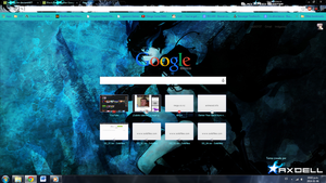 Black Rock Shooter Google Chrome Theme 1600x900 by Axdell