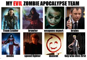 My EVIL Zombie Apocalypse Team by Jedi-TARDIS-Chick101