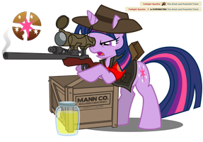 RED Sniper - Twilight Sparkle by NikkiKitty44