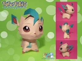 Chibi Leafeon Papercraft by Lyrin-83