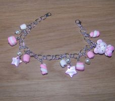 Marshmallows bracelet by PookieTookieJewelry