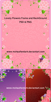 Flowers Frame and BG PSD by mohaafterdark