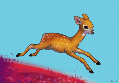Leaping Deer by nanna