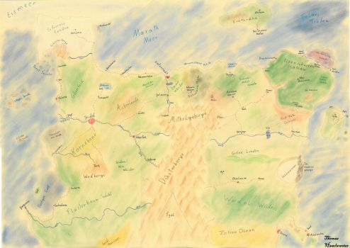 Continent Frenor Map by FantaHasi
