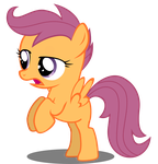 Scootaloo Cute (but res test) by BaronBronie
