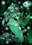 creepy mermaid by pandorawr